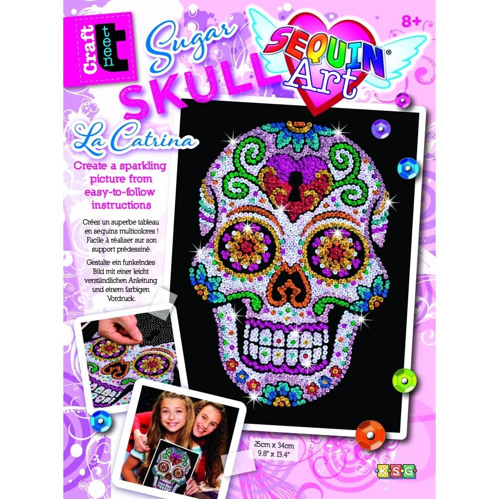 Sequin art sequin art kits 3d sequin art crafty arts sugar skull sequin art solutioingenieria Gallery