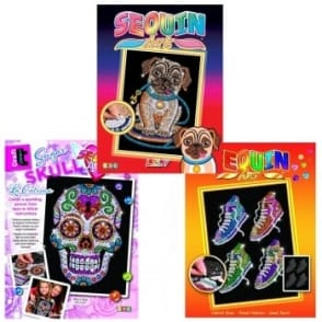 Sugar Skull Sequin, Pug & Street Feet Art Bundle