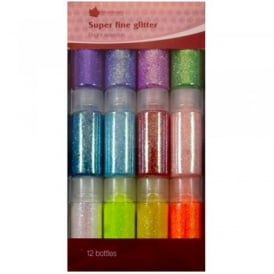 Super Fine Bright Glitter (12 Bottles)