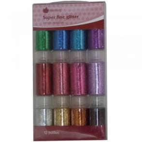 Super Fine Metallic Glitter (12 Bottles)