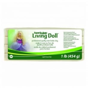 Super Sculpey Living Doll Light Flesh 454g/1lb
