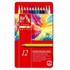 Supracolour Water Soluble Pencils 12 Tin