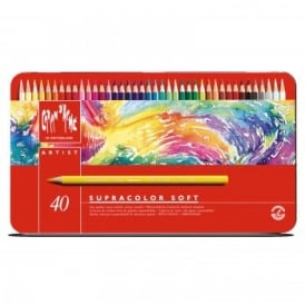 Supracolour Water Soluble Pencils 40 Tin
