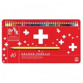 Swisscolour Water Soluble Pencils 40 Tin