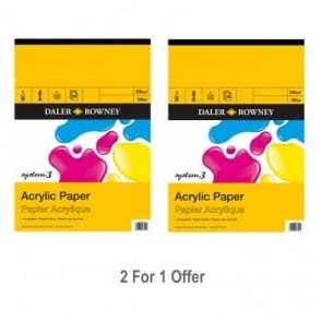 System 3 Acrylic Gummed Pad A3 Twin Pack