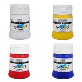 System 3 Acrylic Paint 250ml Quad Pack