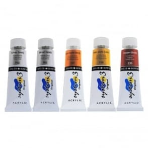 System 3 Acrylic Paint 5 x 75ml Metallics Set