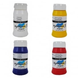 System 3 Acrylic Paint 500ml Quad Pack