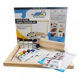 System 3 - Water Based Screen Printing Set