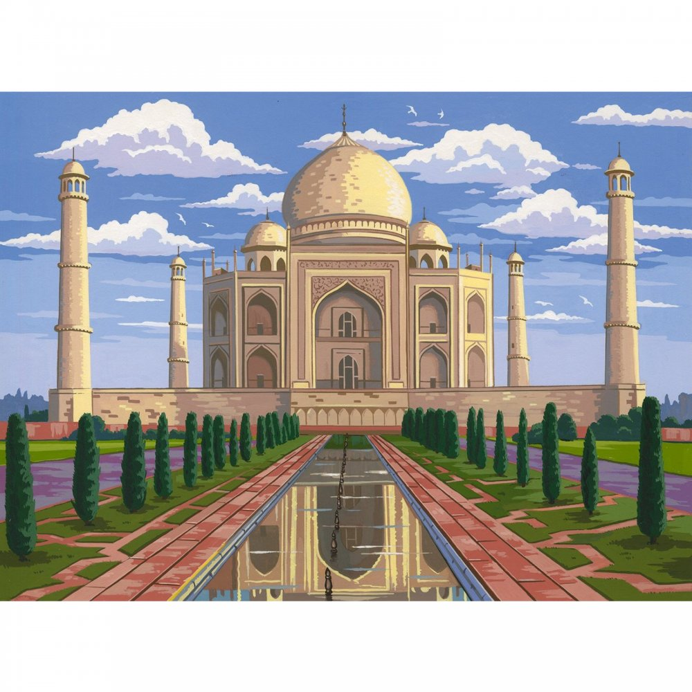Taj Mahal Large Paint by Numbers - Reeves from CraftyArts ...