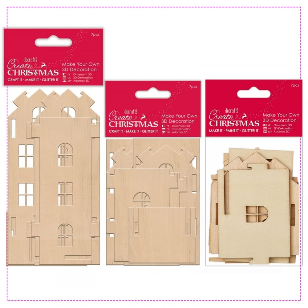 Tall medium and small wooden house make your own 3d for Make your own house 3d