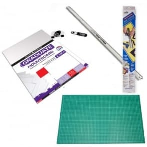 "Team System Mat / Mount Cutter 24""  + Mount Board + Cutting Mat Bundle"