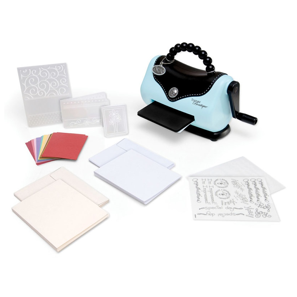 sizzix texture boutique embossing machine starter kit
