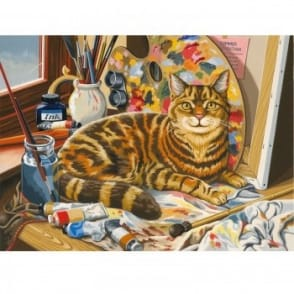 The Artist's Cat Large Paint by Numbers