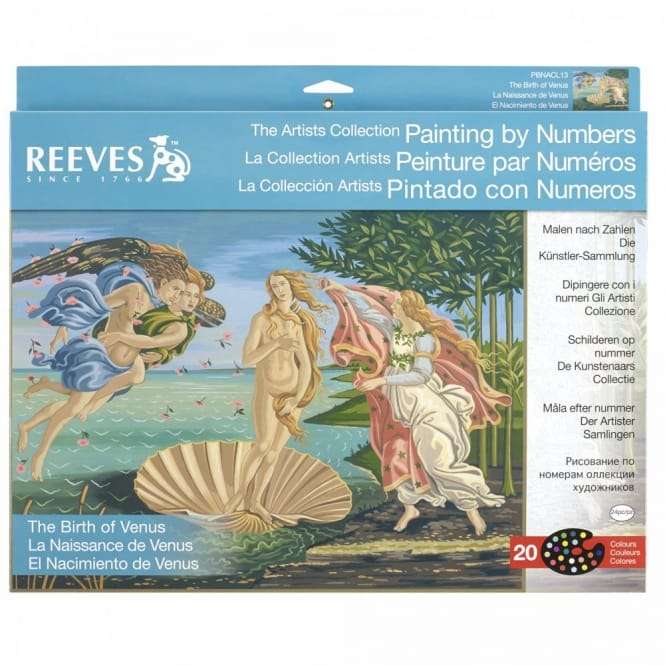 The Birth of Venus The Artists Collection Painting by Numbers