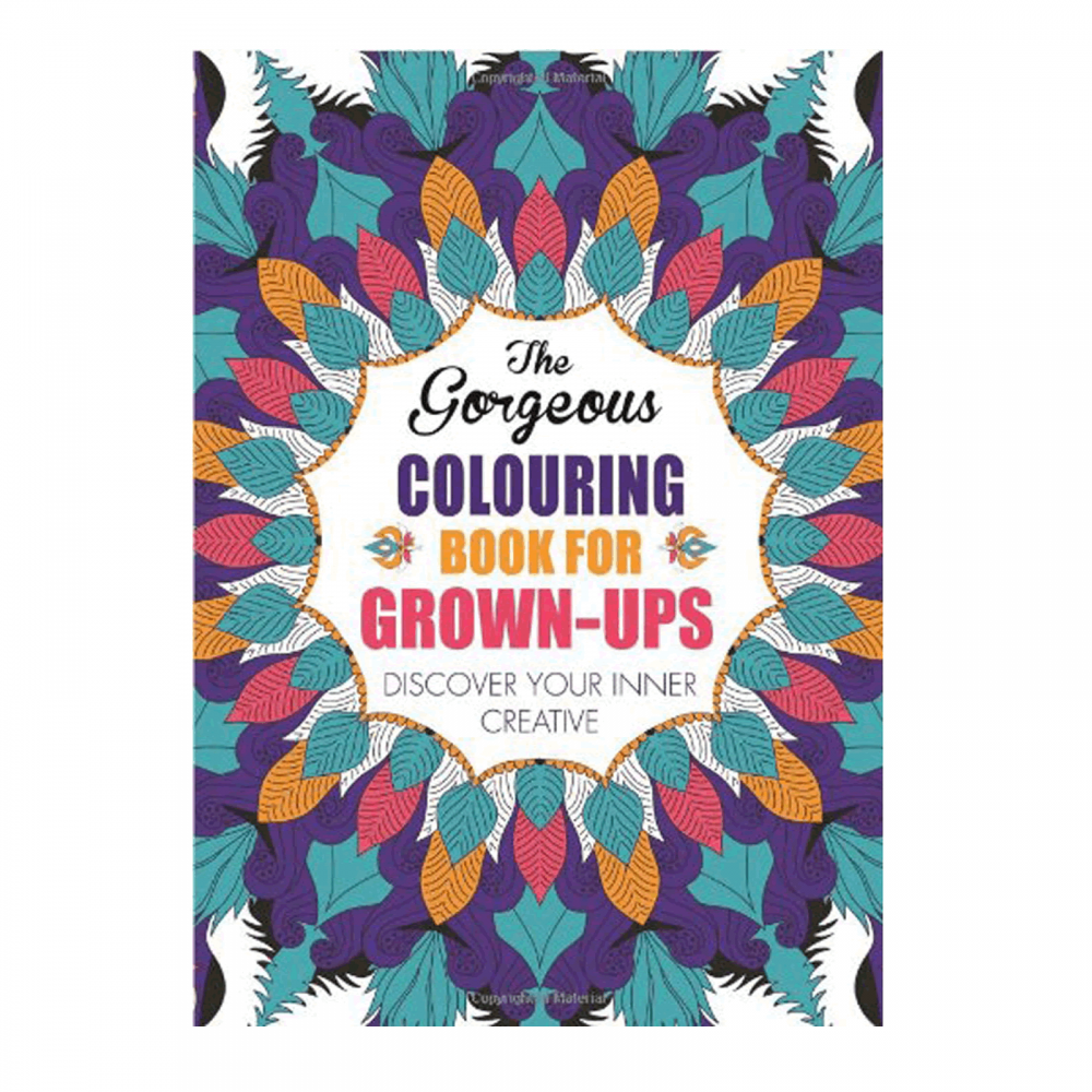 Anti stress colouring book asda - The Gorgeous Colouring Book For Grown Ups