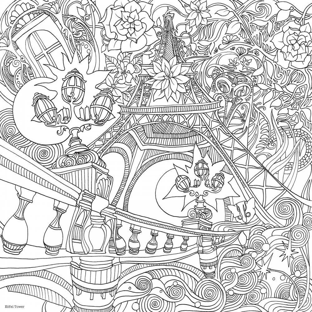 ... Colouring Books › The Magical City Colouring Book by Lizzie Mary