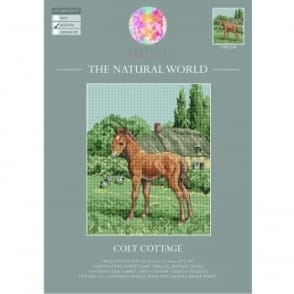 The Natural World Cross Stitch Kit - Colt Cottage