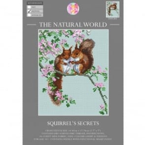 The Natural World Cross Stitch Kit - Squirrel Secrets