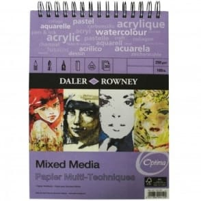 The Optima Mixed Media Spiral Pad - A3