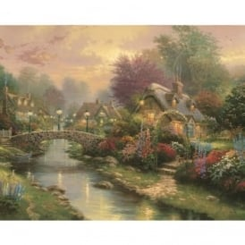 Thomas Kinkade Lamplight Bridge Paint by Number