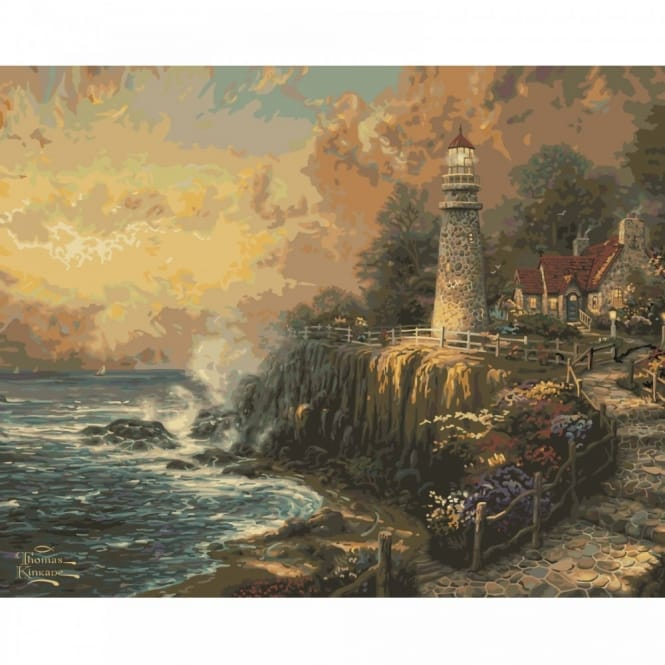 Thomas Kinkade Light Of Peace Paint By Numbers