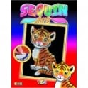 Tia The Tiger Sequin Art