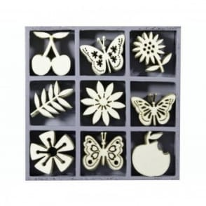 Tiny Wooden Shapes Fruit Butterflies