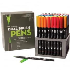Tombow Dual Brush Pen Desk Set of 96