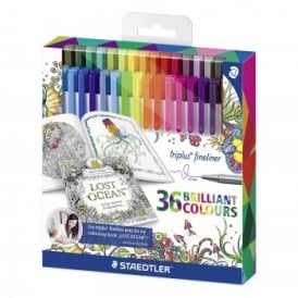 Triplus Fineliner Brilliant Colours - 36 Pack