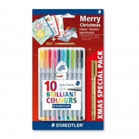 Triplus Fineliner Brilliant Colours Christmas Set
