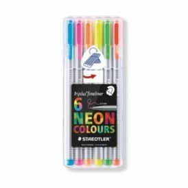 Triplus Fineliner Neon Colours Pack of 6