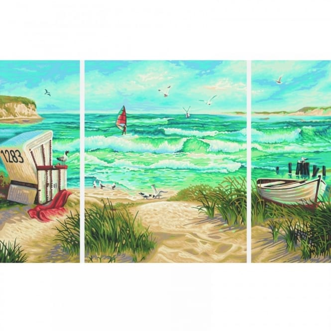 Triptych Paint By Numbers - Summer Retreat