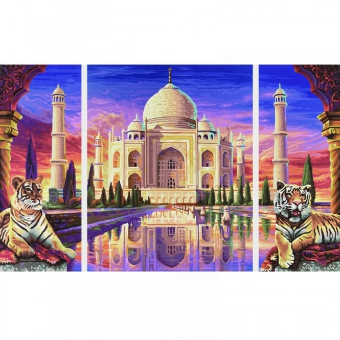 Triptych Paint By Numbers - Taj Mahal