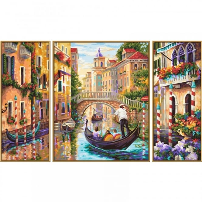 Triptych Paint By Numbers Venice