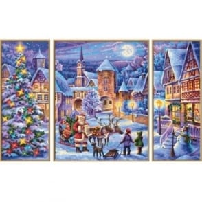 Triptych Paint By Numbers White Christmas