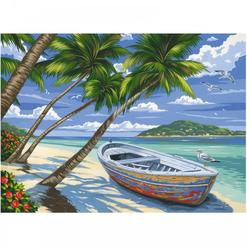 Tropical Beaches: Tropical Beach Large Paint By Numbers*