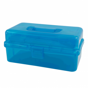 Turquoise Caddy Case with Inner Tray