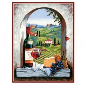 Tuscan View Paint by Numbers