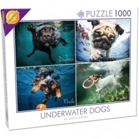 Under Water Dogs 4 Pictures 1000 Piece Puzzle