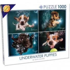 Under Water Puppies 4 Pictures 1000 Piece Puzzle