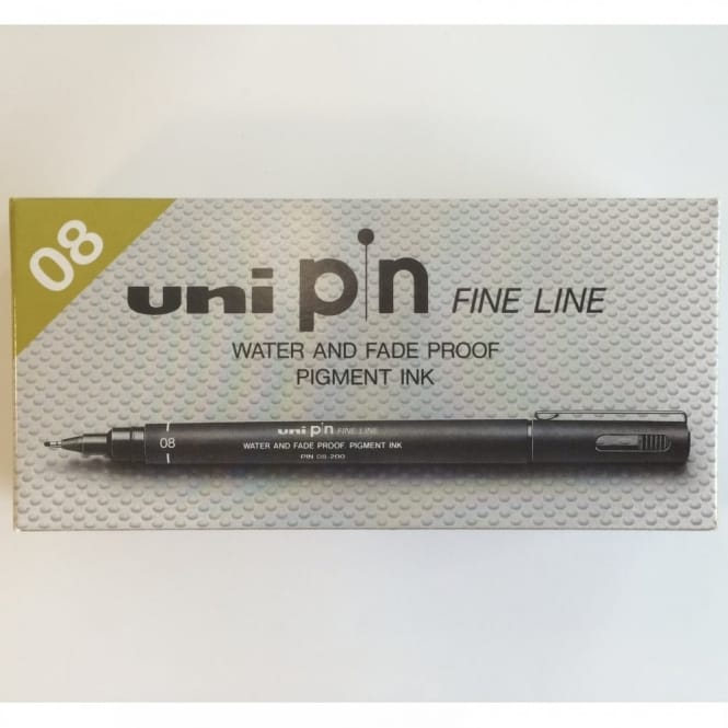 Uni Pin Fine Liner 08 - 12 Pack