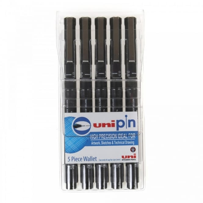 Uni Pin Fineliner Technical Drawing Pen Set