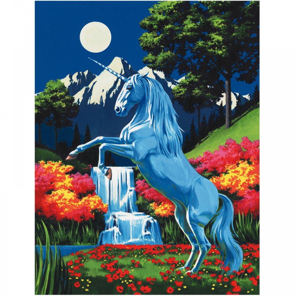 Unicorn Painting By Numbers - CraftyArts.co.uk