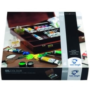 Van Gogh Deluxe Wooden Box Oil Paint Set