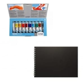Van Gogh Watercolour Tube Set of 10ml & Watercolour Pad Bundle