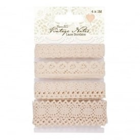 Vintage Notes Lace Borders 4 Pack