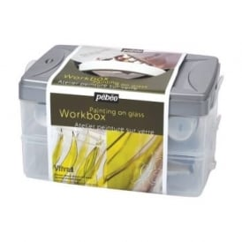 Vitrail Glass Painting Workbox