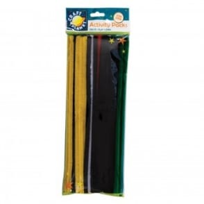 Vivid Coloured Chenille stems (60pk)