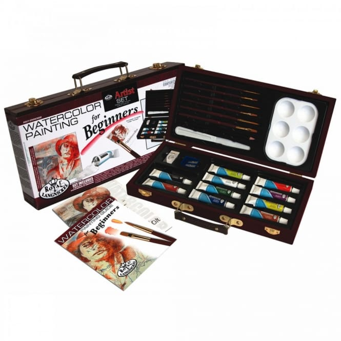 Watercolour Painting for Beginners Wooden Box